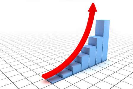in aumento: Ilustración de flecha dirigida hacia arriba como éxito