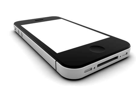 touch screen phone: Mobile phone with blank screen for copy space Stock Photo