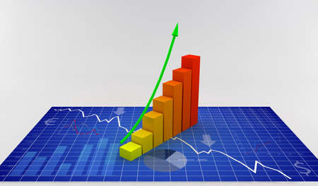 global crisis: Vector illustrations of graphs and business elements