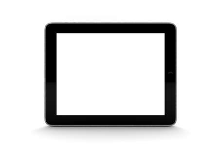 A black tablet isolated on white Stock Photo - 11739772