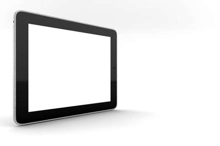 gps device: A black tablet isolated on white