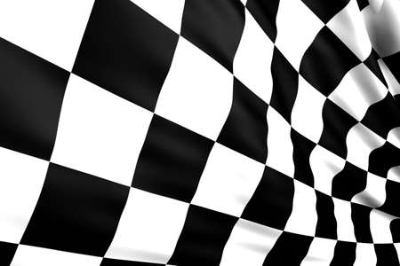 Close up of a nice checkered flag photo