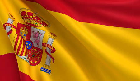 spain: A flag of Spain in the wind