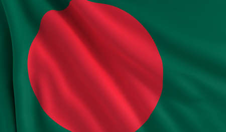 bangladesh: A flag of Bangladesh in the wind