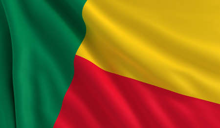 A flag of Benin in the wind photo