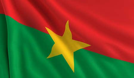 burkina faso: A flag of Burkina Faso in the wind Stock Photo