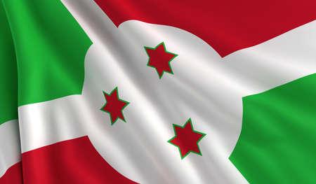burundi: A flag of Burundi in the wind