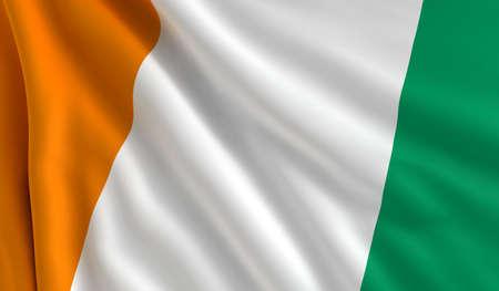 cote ivoire: A flag of Cote d Stock Photo