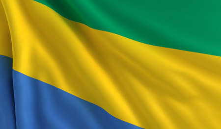A flag of Gabon in the wind photo