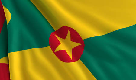 A flag of Grenada in the wind photo