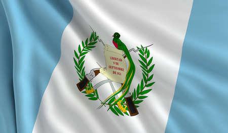 guatemala: A flag of Guatemala in the wind