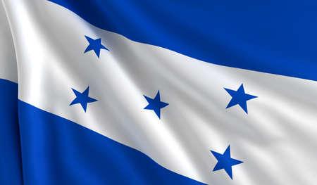bandera honduras: Una bandera de Honduras en el viento