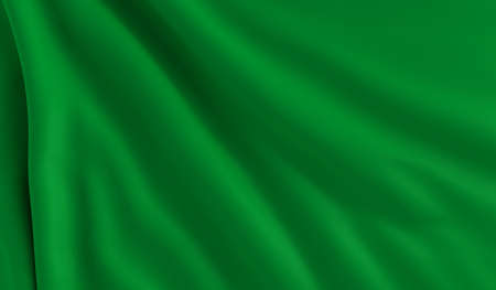 A flag of Libya in the wind photo