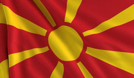 macedonia: A flag of Macedonia in the wind