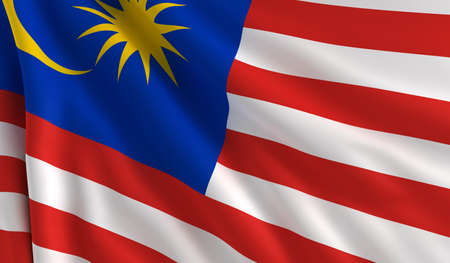 A flag of Malaysia in the wind photo