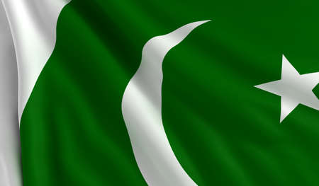 A flag of Pakistan in the wind photo