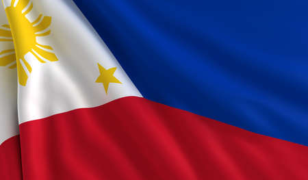 philippines flag: A flag of Philippines in the wind