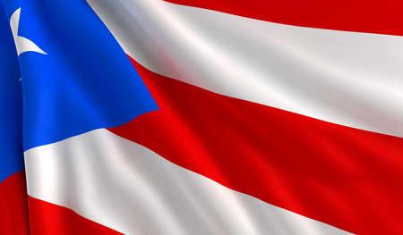 bandera de puerto rico: Una bandera de Puerto Rico en el viento