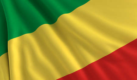 congo: A flag of Republic of the Congo in the wind Stock Photo