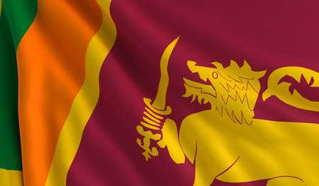 sri: A flag of Sri Lanka in the wind