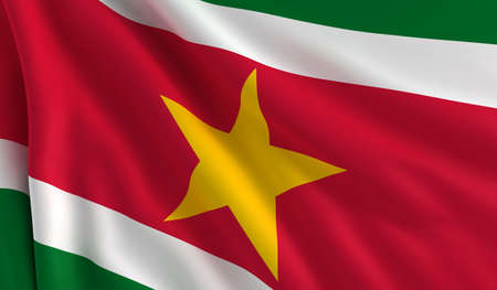 suriname: A flag of Suriname in the wind