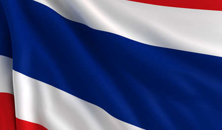 A flag of Thailand in the wind photo