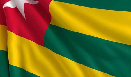 togo: A flag of Togo in the wind