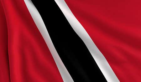 trinidad: A flag of Trinidad and Tobago in the wind
