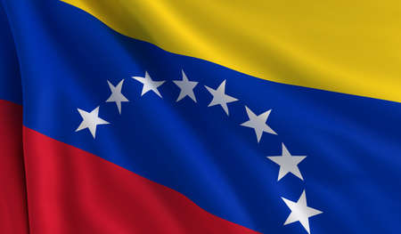 A flag of Venezuela in the wind photo