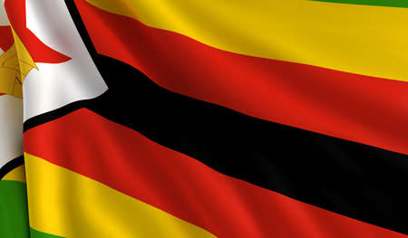 A flag of Zimbabwe in the wind photo