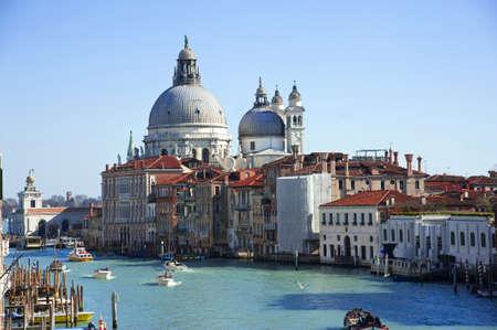 Panoramic of Basilica of Santa Maria in Venice photo