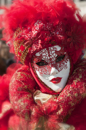 Traditional red mask of the venice carnival Stock Photo - 12725303