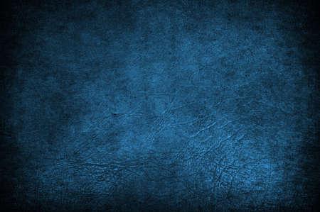 A grunge blue leather used like background