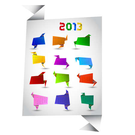 Paper calendar for 2013 illustration Vector