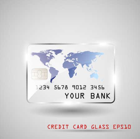 Kreditkarte Glas Standard-Bild - 14382160