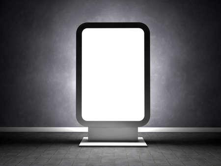 Blank advertising billboard in empty room Stock Photo - 14698782