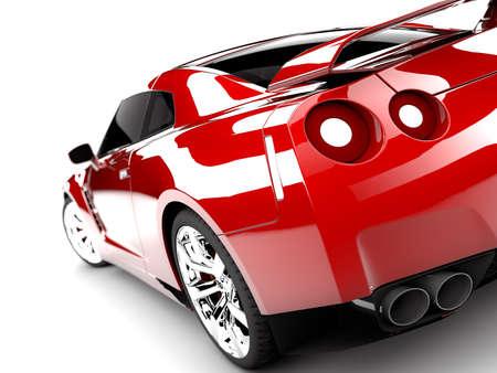 Un generico vettura sportiva elegante rosso illuminato Archivio Fotografico - 14843961