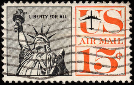 UNITED STATES - CIRCA 1959  depicting the statue of liberty,15 cent,circa 1959