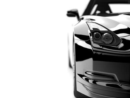 A generic sport elegant black car illuminated