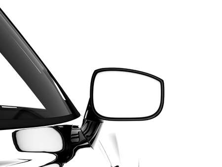 3d illustration of a car mirror on an isolated background