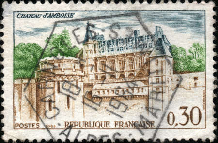 CIRCA 1963  A stamp showing Chateau d