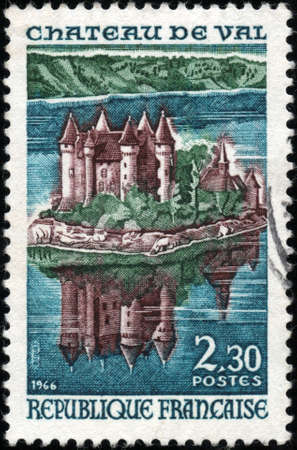 CIRCA 1966  A stamp showing Chateau de Val, circa 1966