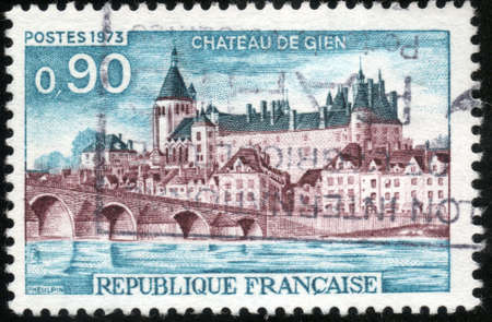 CIRCA 1973  A stamp showing Chateu de Gien, circa 1973