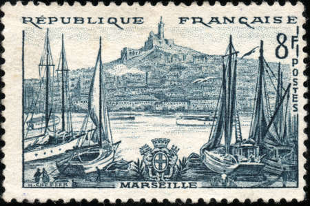 A stamp showing Marseille en France