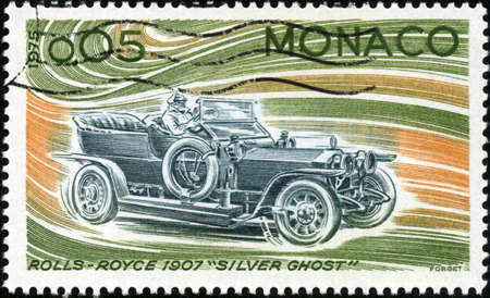 CIRCA 1975  A stamp showing a Rolls Royce 1907 Silver Ghost, circa 1975 Stock Photo - 14987105