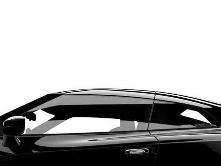 A top of a generic sport elegant black car Stock Photo