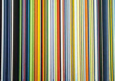 Texture of many colorful lines in Paris photo