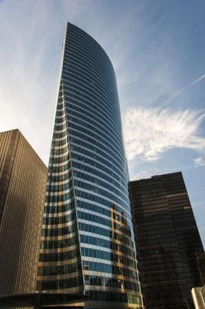 Modern skyscrapers in the urban area of Paris