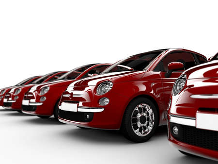 luxury cars: 3D rendering of generic city-cars isolated on a white background