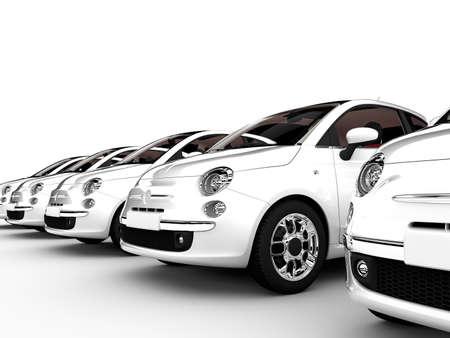 dream car: Representaci?n 3D de gen?ricos de la ciudad-coches aislado en un fondo blanco Foto de archivo
